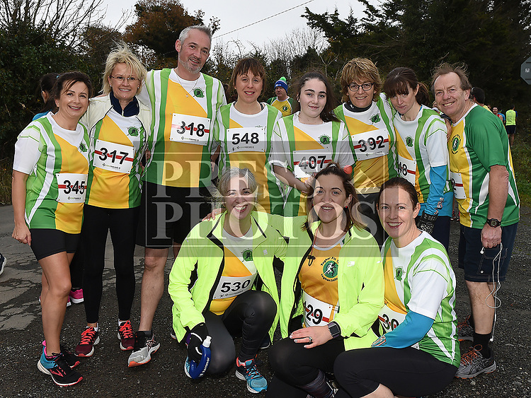 Members of The Toher Runners who took part in the Noel Carroll 10k race at Annagassan. Photo:Colin Bell/pressphotos.ie