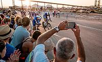 Team Deceuninck-Quickstep coming through<br /> <br /> Stage 1 (TTT): Salinas de Torrevieja to Torrevieja (13.4km)<br /> La Vuelta 2019<br /> <br /> ©kramon