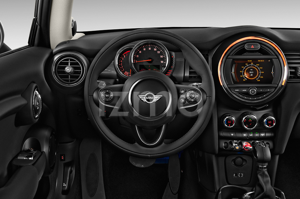 Car pictures of steering wheel view of a 2017 MINI Cooper 3-door 3 Door Hatchback Steering Wheel