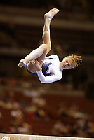 Alina Kozich of Ukraine performs at 2003 World Championships Artistic Gymnastics on August 18th, 2003 at Anaheim, California, USA.