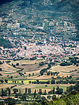 The city of Gualdo Tadino, Italy, from the hills above.