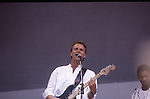 Live Aid 1985 Wembley Stadium, London , England. Sting , Branford Marsalis