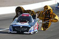 Apr. 6, 2013; Las Vegas, NV, USA: NHRA funny car driver Jeff Diehl during qualifying for the Summitracing.com Nationals at the Strip at Las Vegas Motor Speedway. Mandatory Credit: Mark J. Rebilas-