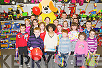 PRIZE WINNERS; Winner's of the Caball's Toymaster art prizes at the Easter party at Caball's Toymaster, Tralee on Saturday...