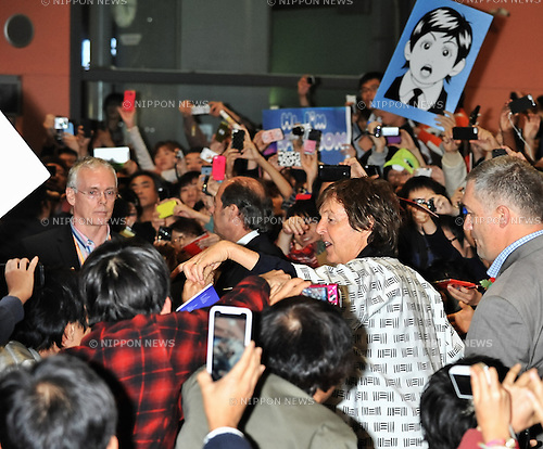 Paul Mccartney, Nov 09, 2013 :  Osaka, Japan : Singer Sir Paul Mccartney arrives at Kansai International Airport in Osaka, Japan, on November 9, 2013.