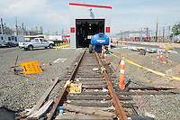 New Haven Rail Yard, Independent Wheel True Facility. CT-DOT Project # 0300-0139, New Haven CT.<br /> Photograph of Construction Progress Photo Shoot 35 on 27 May 2014. One of 52 Images Captured this Submission.