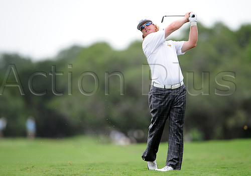 May 16 2010: Charley Hoffman hits his approach shot on the par-4 ninth hole during the third round of the Valero Texas Open at the TPC San Antonio (AT&T Oaks Course) in San Antonio, Tx.