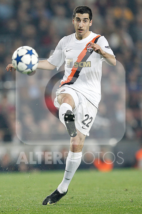 FC Shakhtar Donetsk's Henrik Mkhitaryan during Champions League match on April, 6th 2011...Photo: Acero / Cebolla / ALFAQUI