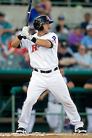 Frisco Roughriders designated hitter Mike Bianucci #33 at bat during the Texas League All Star Game played on June 29, 2011 at Nelson Wolff Stadium in San Antonio, Texas. The South All Star team defeated the North All Star team 3-2. (Andrew Woolley / Four Seam Images)
