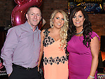 Courtney Waters celebrating her 18th birthday with parents Paul and Denise in The Venue at McHugh's. Photo:Colin Bell/pressphotos.ie