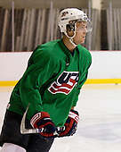 Blake Kessel (US Blue 15) - US players take part in practice on Friday morning, August 8, 2008, in the NHL Rink during the 2008 US National Junior Evaluation Camp and Summer Hockey Challenge in Lake Placid, New York.