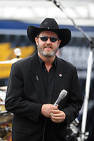 Nov. 8, 2009; Fort Worth, TX, USA; Texas Motor Speedway president Eddie Gossage prior to the Dickies 500. Mandatory Credit: Mark J. Rebilas-