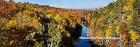 64776-011.05 Fall Color Dead River Marquette county in the Upper Peninsula, MI