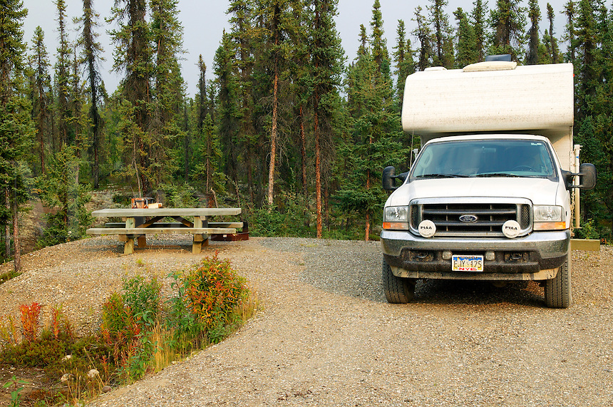 Marion Creek Campground in the Brooks Range from near the Dalton Highway, Coldfoot, Alaska