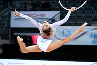 September 08, 2015 - Stuttgart, Germany - LAURA ZENG of USA performs during AA qualifications at 2015 World Championships.