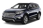2015 Hyundai Grand Santa Fe Executive 5 Door SUV angular front stock photos of front three quarter view