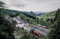 up the final climb to Pratonevoso<br /> <br /> stage 18: Abbiategrasso - Pratonevoso (196km)<br /> 101th Giro d'Italia 2018