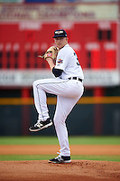 Lakeland Flying Tigers starting pitcher Spencer Turnbull (39) delivers a warmup pitch during a game against the Brevard County Manatees on August 8, 2016 at Henley Field in Lakeland, Florida.  Lakeland defeated Brevard County 6-2.  (Mike Janes/Four Seam Images)