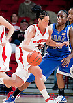 Duke Blue Devils guard Karimas Christma (13) defends against Wisconsin Badgers guard Taylor Wurtz (2) during an NCAA college women's basketball game during the ACC/Big Ten Challenge at the Kohl Center in Madison, Wisconsin on December 2, 2010. Duke won 59-51. (Photo by David Stluka)