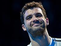 Grigor Dimitrov (BUL) after winning the ATP Final.  Dimitrov beat David Goffin (BEL) 2 sets to 3.  Nitto ATP Finals Tennis Championships, O2 Arena London, England,19th November 2017.