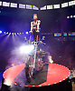 La Soiree<br /> at the La Soiree Spiegeltent, Southbank Centre, London, Great Britain <br /> press photocall<br /> 29th October 2015 <br /> <br /> <br /> <br /> Melanie Chy<br /> balance &amp; strength act on a motorcycle<br /> <br /> <br /> <br /> Photograph by Elliott Franks <br /> Image licensed to Elliott Franks Photography Services