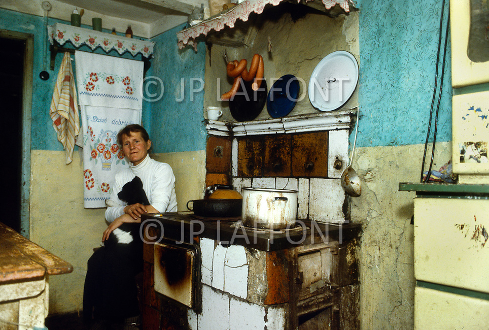 Poland, September, 1981 - A woman at home in the Torun region.