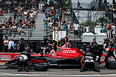 2017 Verizon IndyCar Series - Firestone Grand Prix of St. Petersburg<br /> St. Petersburg, FL USA<br /> Sunday 12 March 2017<br /> Mikhail Aleshin pit stop<br /> World Copyright:Sam Cobb/LAT Images<br /> ref: Digital Image cobb-stpete-170312-4430