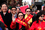 Revelers attends Chinese Lunar New Year parade in Chinatown in New York, United States. 29/01/2012. Photo by Kena Betancur / viewpress.