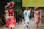 "October 19, 2016, Tokyo, Japan - Models display creations of Japanese designer Takafumi Tsuruta at the ""tenbo"" 2017 spring/summer collection as a part of Japan Fashion Week in Tokyo on Wednesday, October 19, 2016.   (Photo by Yoshio Tsunoda/AFLO) LWX -ytd-"