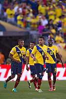 Action photo during the match Ecuador vs Haiti at MetLife Stadium Copa America Centenario 2016. ---Foto  de accion durante el partido Ecuador vs Haiti, En el Estadio MetLife Partido Correspondiante al Grupo - B -  de la Copa America Centenario USA 2016, en la foto: Festejo de gol de Christian Noboa<br /> <br /> -- 12/06/2016/MEXSPORT/Javier Ramirez.
