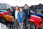 Leanne, Dominic and Connie Finnegan from Castleisland at the finish line of day 2 Cannonball Race in Killarney last Saturday afternoon. More then 180 cars participated in the event and all the founds raised will go to Make a Wish Fundation.