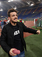 Calcio, Serie A: Lazio vs Roma. Roma, stadio Olimpico, <br /> Roma&rsquo;s Alessandro Florenzi celebrates at the end of the Italian Serie A football match between Lazio and Rome at Rome's Olympic stadium, 4 December 2016. Roma won 2-0.<br /> UPDATE IMAGES PRESS/Isabella Bonotto