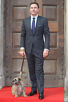 David Walliams and his dog Rudy attending a photocall for 'Britain's Got Talent' at St Luke's Church, London. 09/04/2014 Picture by: Alexandra Glen / Featureflash