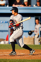 July 27, 2009:  Catcher Chun-Hsiu Chen of the Mahoning Valley Scrappers during a game at Dwyer Stadium in Batavia, NY.  Mahoning Valley is the NY-Penn League Short-Season Class-A affiliate of the Cleveland Indians.  Photo By Mike Janes/Four Seam Images
