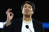 Washington, DC - March 20, 2016: District of Columbia Mayor Muriel Bowser addresses attendees of the AIPAC Policy Conference at the Verizon Center in the District of Columbia, March 20, 2016. AIPAC is engaged in promoting and protecting the U.S.-Israel relationship to enhance security for both countries. (Photo by Don Baxter/Media Images International)