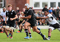 Gideon Wrampling in action during the rugby union match between New Zealand Schools and Fiji Schools at Hamilton Boys' High School in Hamilton, New Zealand on Monday, 30 September 2019. Photo: Simon Watts / lintottphoto.co.nz