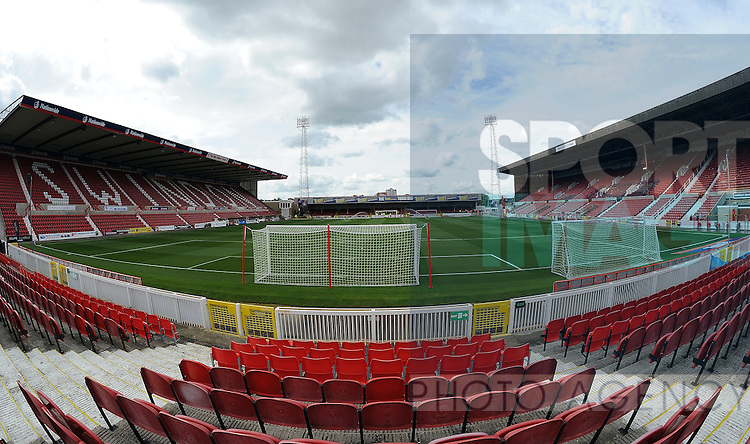 A general view of the County Ground, home stadium of Swindon Town FC<br /> - Sky Bet League One - Swindon Town vs Sheffield United - The County Ground - Swindon - England - 29th August 2015