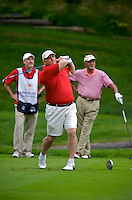 06/24/09 - Photo by John Cheng for Newsport. USA Gymnastics President Steve Penny tees off at the Travelers Championship at the TPC River Highlands in Cromewll Connecticut.