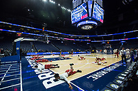 NWA Democrat-Gazette/BEN GOFF @NWABENGOFF<br /> Arkansas warms up Thursday, March 14, 2019, before the second round game vs Florida in the SEC Tournament at Bridgestone Arena in Nashville.