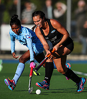 Jordan Grant of the Blacksticks during the international hockey match between the Blacksticks Women and India, Rosa Birch Park, Pukekohe, New Zealand. Sunday 14  May 2017. Photo:Simon Watts / www.bwmedia.co.nz