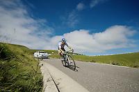 Michael Albasini (SUI/Orica-GreenEDGE) descending the Port de Bal&egrave;s<br /> <br /> 2014 Tour de France<br /> stage 16: Carcassonne - Bagn&egrave;res-de-Luchon (237km)