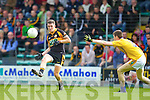 Shane Carroll Austin Stacks in action against Jack McGuire Feale Rangers in the Semi Finals of the Senior County Football Championship at Austin Stack Park on Sunday.