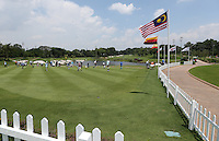View of the rear of the driving range during the preview days of the 2014 Maybank Malaysian Open at the Kuala Lumpur Golf & Country Club, Kuala Lumpur, Malaysia. Picture:  David Lloyd / www.golffile.ie