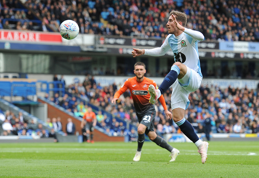 Blackburn Rovers' Joe Rothwell<br /> <br /> Photographer Kevin Barnes/CameraSport<br /> <br /> The EFL Sky Bet Championship - Blackburn Rovers v Swansea City - Sunday 5th May 2019 - Ewood Park - Blackburn<br /> <br /> World Copyright © 2019 CameraSport. All rights reserved. 43 Linden Ave. Countesthorpe. Leicester. England. LE8 5PG - Tel: +44 (0) 116 277 4147 - admin@camerasport.com - www.camerasport.com