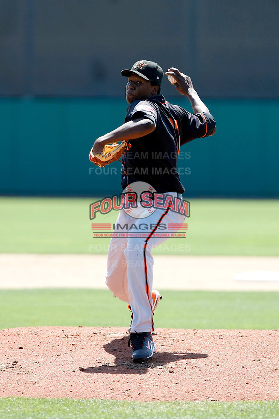 Kennil Gomez  -  2009 Bakersfield Blaze playing against the Stockton Ports at Banner Island Ballpark,Stockton, CA - 05/20/2009.Photo by:  Bill Mitchell/Four Seam Images