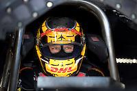 Jan. 16, 2013; Jupiter, FL, USA: NHRA funny car driver Del Worsham during testing at the PRO Winter Warmup at Palm Beach International Raceway.  Mandatory Credit: Mark J. Rebilas-
