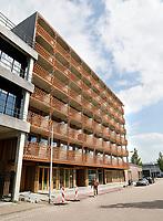 Nederland Amsterdam 2017. North Orleans appartementen in Amsterdam Noord. Architect Bjarne Mastenbroek. Huurstudio's. Foto Berlinda van Dam / Hollandse Hoogte
