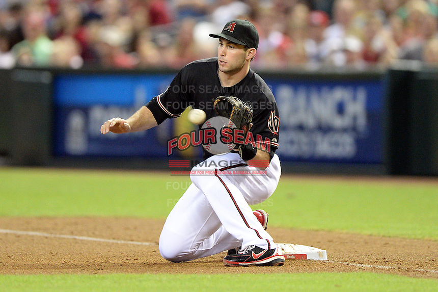 Arizona Diamondbacks first baseman Paul Goldschmidt (44) during a game against the Washington Nationals at Chase Field on September 28, 2013 in Phoenix, Arizona.  Washington defeated Arizona 2-0.  (Mike Janes/Four Seam Images)