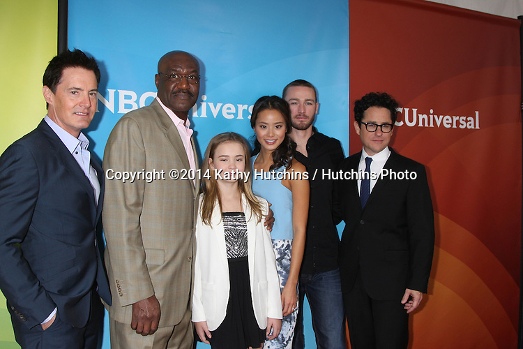 LOS ANGELES - JAN 19:  Kyle MacLachlan, Delroy Lindo, Johnny Sequoyah, Jamie Chung, Jake McLaughlin, JJ Abrams at the NBC TCA Winter 2014 Press Tour at Langham Huntington Hotel on January 19, 2014 in Pasadena, CA