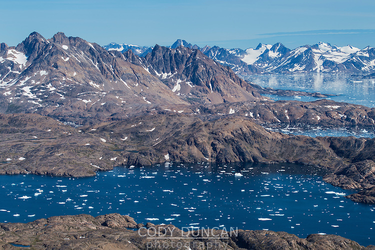 Late summer sea ice at mouth of Kong Oscars Havn, Tasiilaq, Greenland